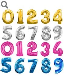 Цифры из фольги